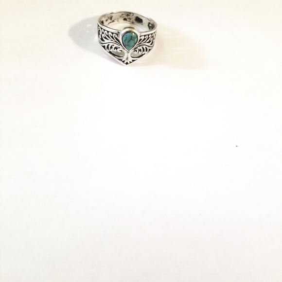 Jewelry - Sterling Silver tq tree of a life ring size 8